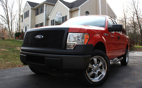 T-Rex 20568B:  Ford F-150 2009 - 2012 Billet Grille - 1 Pc (Req. cutting factory grille center) - All Black
