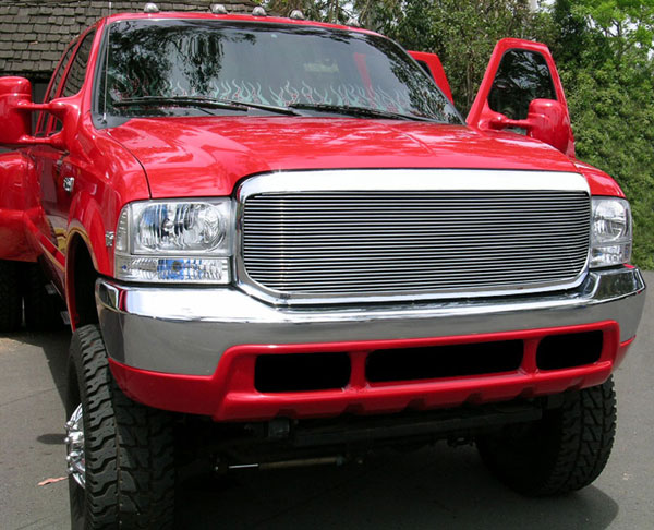 T-Rex 20574:  Ford Super Duty 1999 - 2004 Billet Grille Insert - 1 Pc Look - Full Opening (Requires Cutting OE grille) - Will Not fit Excursion