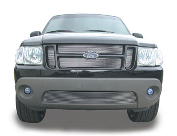 T-Rex 20652:  Ford Explorer 2Dr Sport / Sport Trac 2001 - 2005 Billet Grille Insert - 4 Pc Look, Installs behind grille openings - EZ Install (23 Bars)