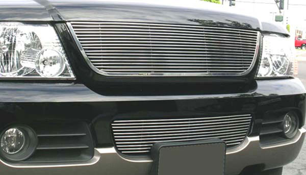 T-Rex 20656:  Ford Explorer 2002 - 2005 Billet Grille Insert - w/Lower Billet Molding - Replaces Factory Grille - EZ Install