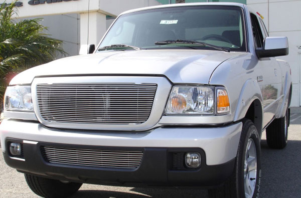 T-Rex 20661:  Ford Ranger XLT / FX4 2006 - 2012 Billet Grille Insert (21 Bars) (Requires cutting factory bars)