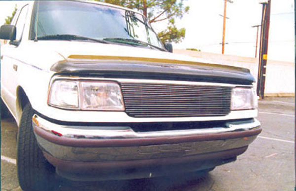 T-Rex 20675:  Ford Ranger 1993 - 1997 Billet Grille Insert - Use w/Top Chrome Molding or Cut Grille (17 Bars)