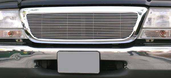 T-Rex 20676:  Ford Ranger 2/4WD 1998 - 2000 Billet Grille Insert 4/2WD - Full Opening, 1 Pc (17 Bars)