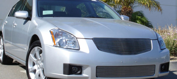 T-Rex 20757:  Nissan Maxima 2007 - 2008 Billet Grille Insert - 1 Pc - Replaces Factory Grille Shell (15 Bars)