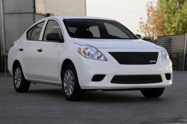 T-Rex 20775B    Nissan Versa Sedan - Billet Grille Insert - All Black; 2012-2012
