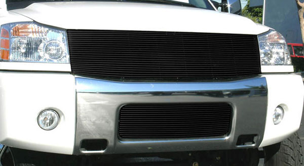 T-Rex 20780B |  Nissan Titan (04-07 Armada) - Billet Grille Insert - 1 Pc (Replaces Grille Shell) (22 Bars) - All Black; 2004-2007