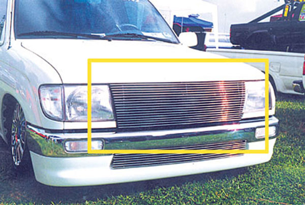 T-Rex 20880:  Toyota Tacoma (All Models) 1997 - 2000 Billet Grille Insert - Replaces Factory Grille Shell (All Models) (15 Bars)