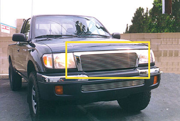T-Rex 20881:  Toyota Tacoma - 4WD/Pre-Runner 1998 - 2000 Billet Grille Insert - 4WD/Pre-Runner (15 Bars)