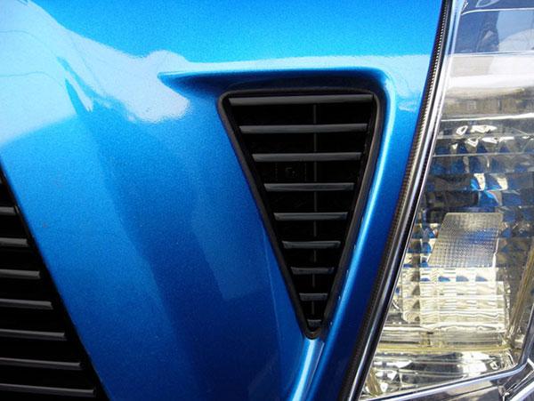 T-Rex 20896B |  Toyota Tacoma 2005 - 2010 Billet Side Vent Inserts - 2 Pc (9 Bars Each) - All Black