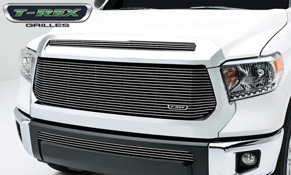 T-Rex 20964:  Toyota Tundra 2014 - Billet Grille, Main w/logo cut out, Replacement, 1 Pc, Polished Aluminum Bars