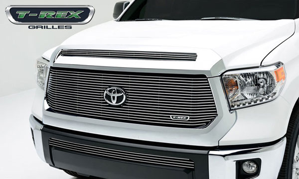 T-Rex 20965:  Toyota Tundra 2014 - Billet Grille, Main with out logo cut out, Replacement, 1 Pc, Polished Aluminum Bars