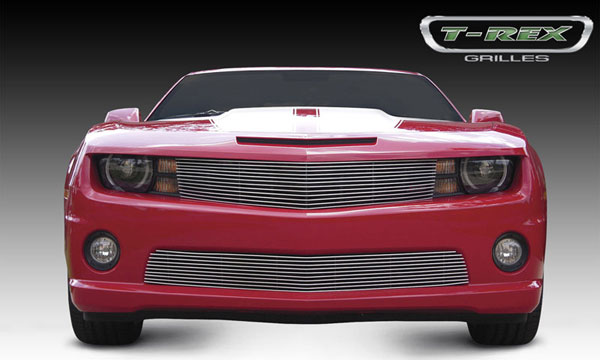T-Rex 21027:  Chevrolet Camaro (ALL) 2010 - 2012 Billet Grille - OE Bowtie can be re-installed (Optional)