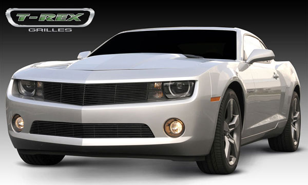 T-Rex 21027B:  Chevrolet Camaro (ALL) 2010 - 2013 Billet Grille - All Black - OE Bowtie can be re-installed (Optional)