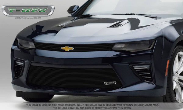 T-Rex 21033B: Camaro 2016 SS Main Grille Overlay with Black Powder Coated Finish