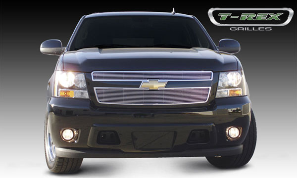 T-Rex 21051:  Chevrolet Tahoe, Suburban, Avalanche 2007 - 2013 Billet Grille Overlay/Bolt On - 2 Pc (6, 11 Bars)