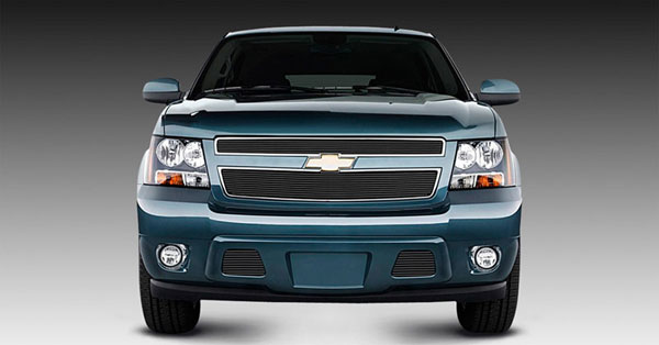 T-Rex 21051B |  Chevrolet Tahoe, Suburban, Avalanche 2007 - 2013 Billet Grille Overlay/Bolt On - 2 Pc (6, 11 Bars) - All Black