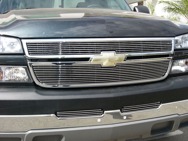 T-Rex (21106)  Chevrolet Silverado 2500HD, 3500 (All 2006 Models) 2005 - 2006 Billet Grille Overlay/Bolt On & Insert - 2 Pc (7, 11 Bars)