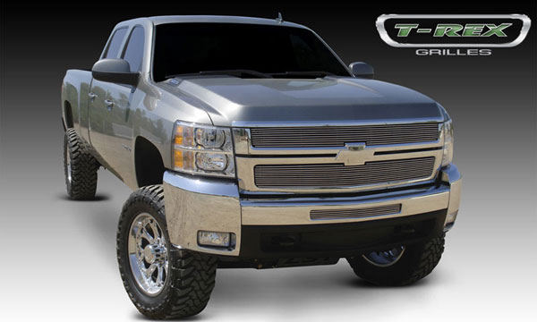 T-Rex 21112 |  Chevrolet Silverado HD - Billet Grille Overlay/Bolt On - 2 Pc; 2007-2010