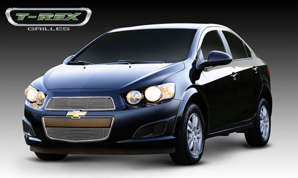 T-Rex 21132:  Chevrolet Sonic 2012 - 2013 Billet Grille Overlay - 2 Pc