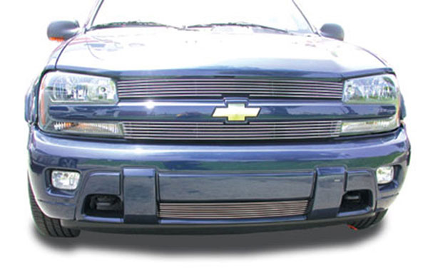T-Rex 21281:  Chevrolet Trailblazer LS 2002 - 2009 Billet Grille Overlay/Bolt On - Recess Mount (6,4 Bars)