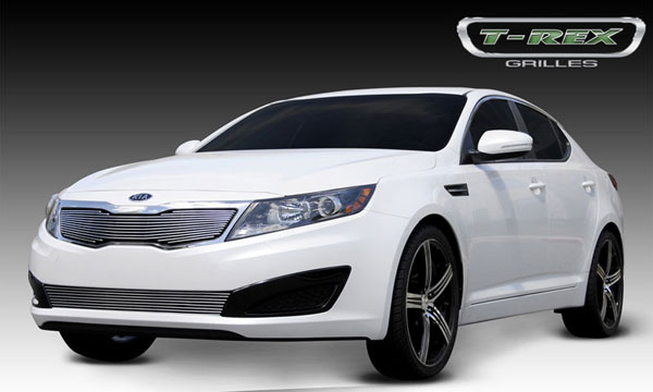 T-Rex 21320:  Kia Optima 2011 - 2011 Billet Grille Overlay (Will not fit SX or vehicles with Sporty Type Grille)