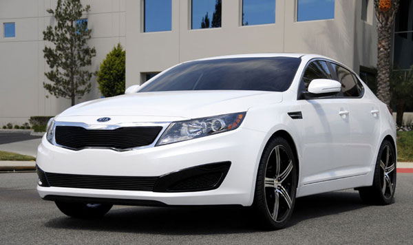 T-Rex (21320B)  Kia Optima 2011 - 2011 Billet Grille Overlay - All Black (Will not fit SX or vehicles with Sporty Type Grille)
