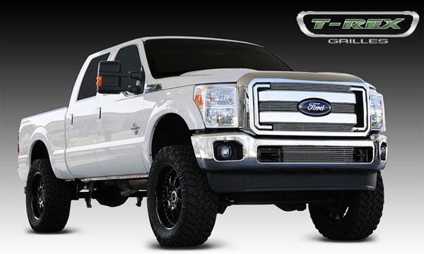 T-Rex 21546 |  Ford Super Duty - Billet Grille Overlay/Bolt On - 4 Pc; 2011-2012