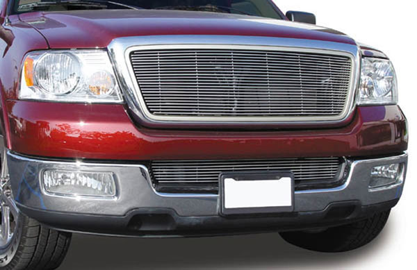 T-Rex 21551:  Ford F150 2WD and All Lariat Models 2004 - 2008 Billet Grille Overlay/Bolt On & Insert - W/Honeycomb Style OE Grille (23 Bars)