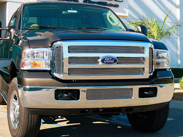 T-Rex 21562:  Ford Super Duty XL 2005 - 2007 Billet Grille Overlay/Bolt On - 6 Pc (6 Bars Each)