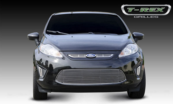 T-Rex 21588:  Ford Fiesta 2011 - 2011 Billet Grille Overlay - 2 Pc (Laser Cut Stainless)