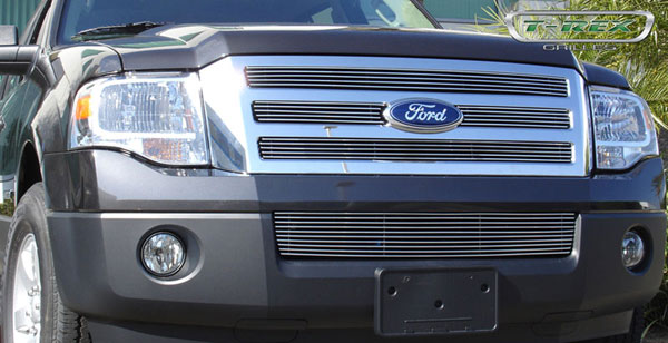 T-Rex 21594:  Ford Expedition 2007 - 2012 Billet Grille Bolt On Easy Install - 4 Pc Design (4 Bars each)