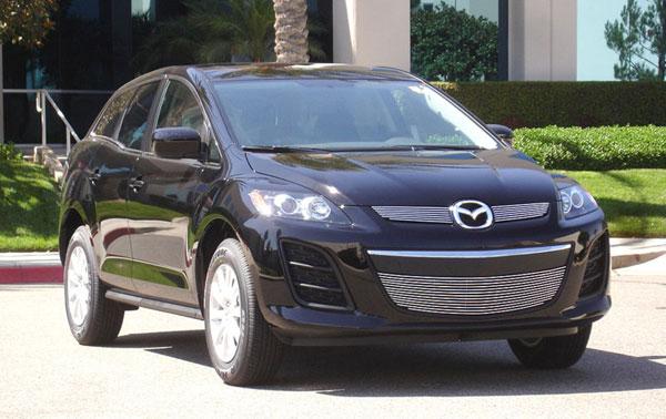 T-Rex 21638    Mazda CX7 - Billet Grille Overlay/Bolt On - 2 Pc; 2010-2011