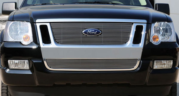 T-Rex 21662:  Ford Explorer Sport Trac 2006 - 2010 Billet Grille Overlay/Bolt On w/ Logo Cut Out