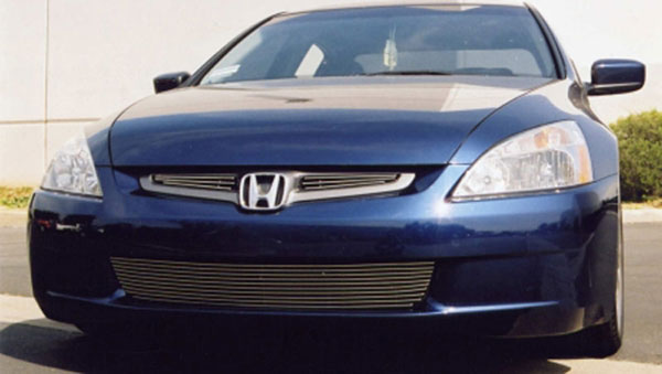 T-Rex 21730:  Honda Accord (4 Door Sedan Only) 2003 - 2005 Billet Grille Overlay - 2 Pc (3 Bars Each)