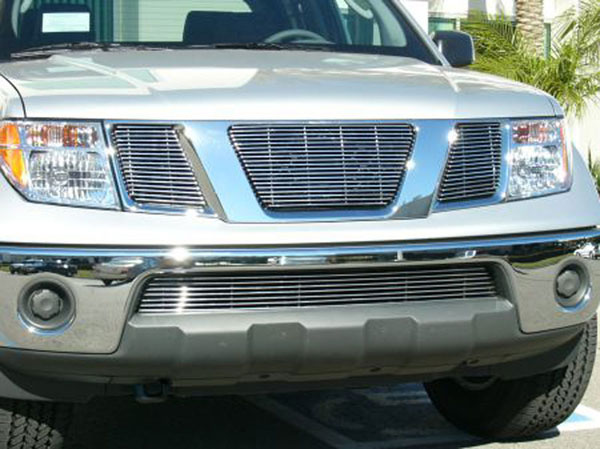 T-Rex 21760:  Nissan Pathfinder & Frontier 2005 - 2008 Billet Grille Overlay/Bolt On - 3 Pc - No Logo Opening (19,16,16 Bars)