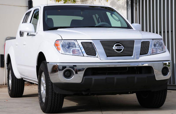 T-Rex 21774:  Nissan Frontier 2009 - 2010 Billet Grille Overlay/Bolt On - 3 Pc w/ Logo Opening