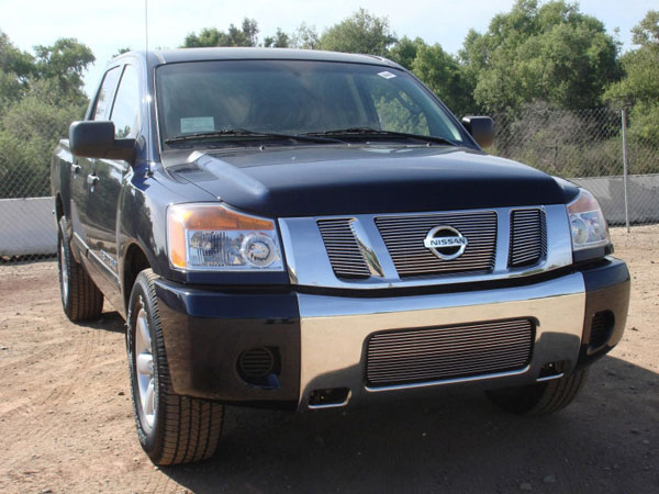 T-Rex 21783 |  Nissan Titan - Billet Grille Overlay/Bolt On - 3 Pc - W/ Logo Opening; 2008-2012