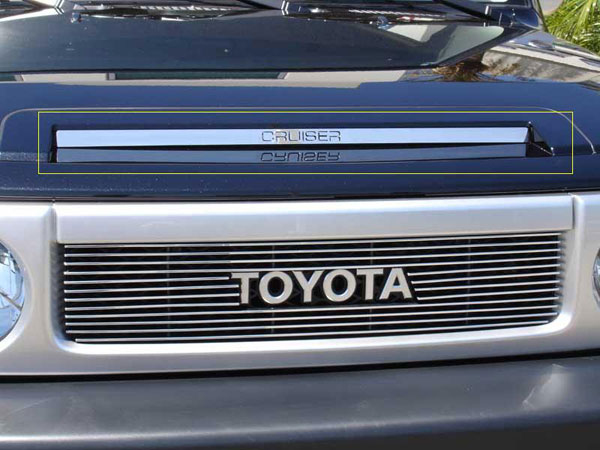 T-Rex 21933:  Toyota FJ Cruiser 2007 - 2013 Polished Stainless Steel 'Cruiser' Hood Scoop
