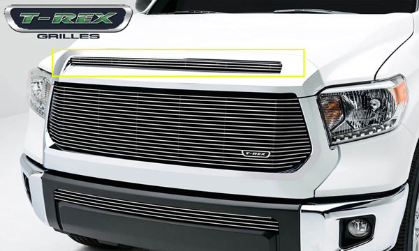 T-Rex 21964:  Toyota Tundra 2014 - Billet Grille, Hood, Overlay, 1 Pc, Polished