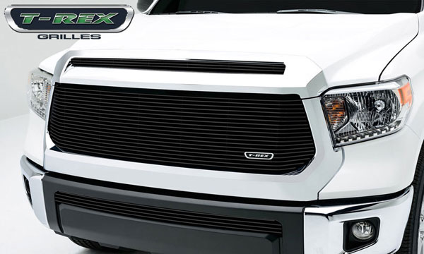 T-Rex 21964B:  Toyota Tundra 2014 - Billet Grille, Hood, Overlay, 1 Pc, Black Powdercoated Aluminum Bars