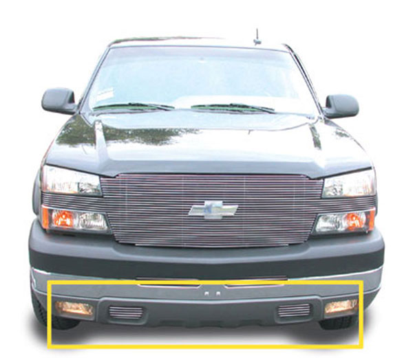 T-Rex 25100:  Chevrolet Silverado (All Models) 2003 - 2006 Bumper Air Dam - Tow Hooks Billet Grille Insert - 2 Pc - Hooks Must be removed