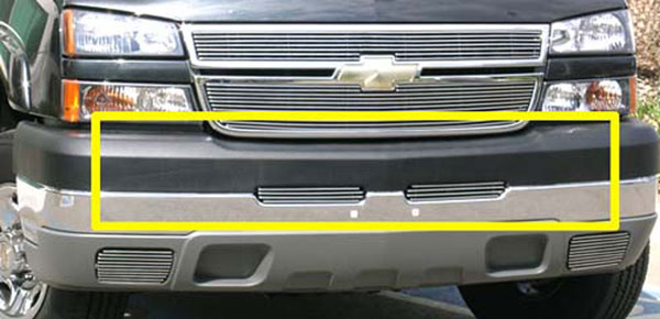 T-Rex 25103:  Chevrolet Silverado (All Models) 2003 - 2006 Bumper Billet Grille Top Pad Insert - 2 Pc (3 Bars)