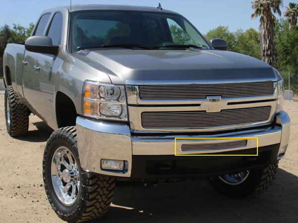 T-Rex 25112 |  Chevrolet Silverado 1500 & 07-10 HD 2007 - 2013 Bumper Billet Grille - Top steel bumper opening - All 2007-2010 HD & 2009-2011 Silverado 1500 Models
