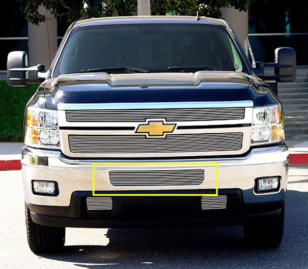 T-Rex 25114 |  Chevrolet Silverado HD - Bumper Billet Grille - Top steel bumper opening; 2011-2012