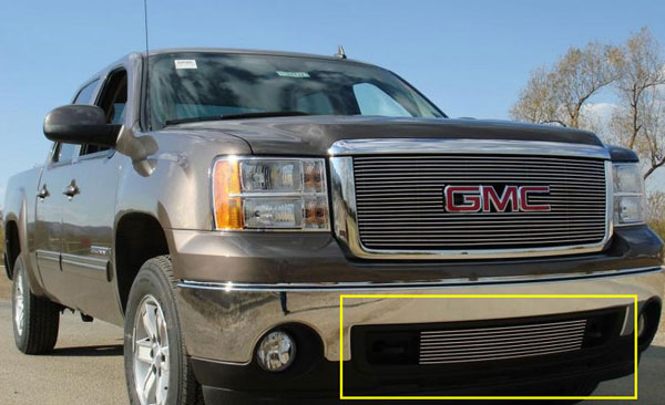 T-Rex (25205)  GMC Sierra 1500 & 07-10 HD 2007 - 2012 Bumper Billet Grille Insert (Lower Air Dam between tow hooks)