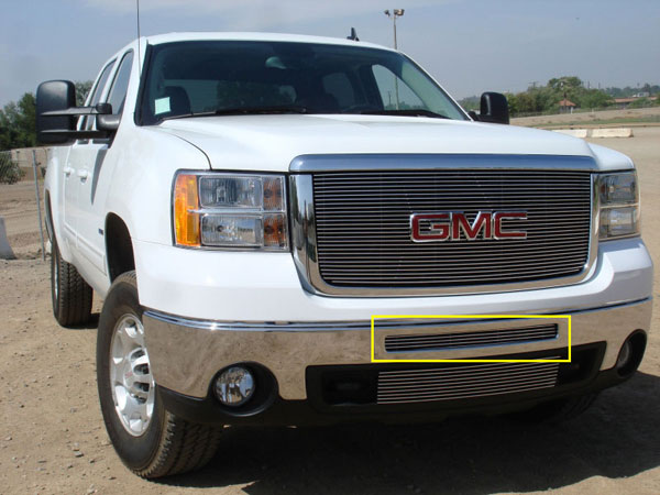 T-Rex 25206:  GMC Sierra 1500 & 07-10 HD 2007 - 2012 Bumper Billet Grille - Top steel bumper opening - All HD & 09-11 Sirra 1500 Models