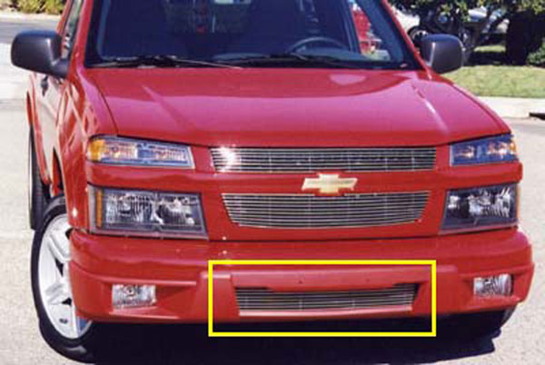 T-Rex 25265:  Chevrolet Colorado, GMC Canyon 2004 - 2013 Bumper Billet Grille Insert - Remove License Plate/Bracket (7 Bars) (Except Extreme)