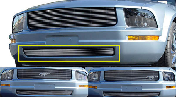 T-Rex 25515:  Ford Mustang LX Models (Without Pony Package) 2005 - 2009 Bumper Billet - LX Models (7 Bars)