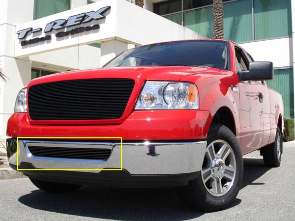T-Rex 25552B |  Ford F150 (All Models) - Bumper Billet Grille Insert - All Black; 2004-2005