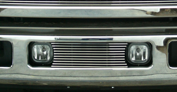 T-Rex 25562:  Ford Super Duty, Excursion 2005 - 2007 Bumper Billet Grille Insert - Fits between factory Fog Lights (10 Bars)